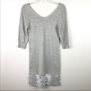 Armani Jeans | Gray Silver Knit Sequin Wool Dress